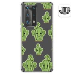 Funda Gel Transparente para Huawei P40 Pro diseño Cactus Dibujos