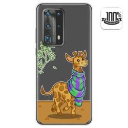 Funda Gel Transparente para Huawei P40 Pro diseño Jirafa Dibujos