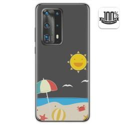 Funda Gel Transparente para Huawei P40 Pro diseño Playa Dibujos