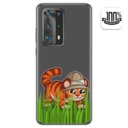 Funda Gel Transparente para Huawei P40 Pro diseño Tigre Dibujos