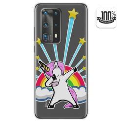 Funda Gel Transparente para Huawei P40 Pro diseño Unicornio Dibujos