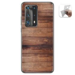 Funda Gel Tpu para Huawei P40 Pro diseño Madera 02 Dibujos