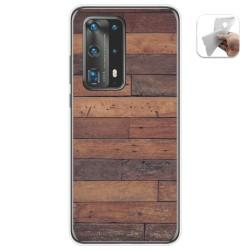 Funda Gel Tpu para Huawei P40 Pro diseño Madera 03 Dibujos
