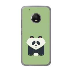 Funda Gel Tpu para Lenovo Moto G5 Plus Diseño Panda Dibujos