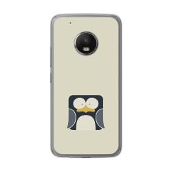 Funda Gel Tpu para Lenovo Moto G5 Plus Diseño Pingüino Dibujos