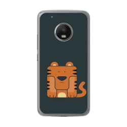 Funda Gel Tpu para Lenovo Moto G5 Plus Diseño Tigre Dibujos