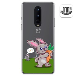 Funda Gel Transparente para OnePlus 8 diseño Conejo Dibujos