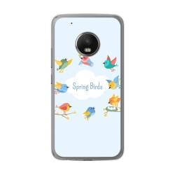 Funda Gel Tpu para Lenovo Moto G5 Plus Diseño Spring Birds Dibujos