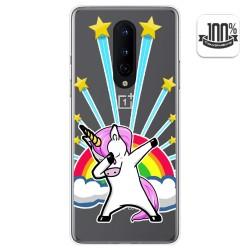 Funda Gel Transparente para OnePlus 8 diseño Unicornio Dibujos
