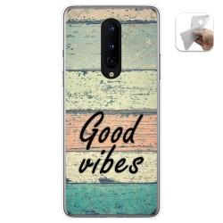 Funda Gel Tpu para OnePlus 8 diseño Madera 01 Dibujos