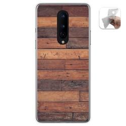 Funda Gel Tpu para OnePlus 8 diseño Madera 03 Dibujos