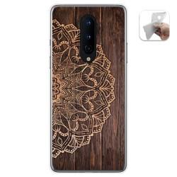 Funda Gel Tpu para OnePlus 8 diseño Madera 06 Dibujos