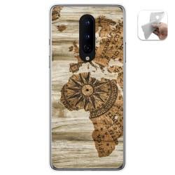 Funda Gel Tpu para OnePlus 8 diseño Madera 07 Dibujos