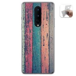 Funda Gel Tpu para OnePlus 8 diseño Madera 10 Dibujos