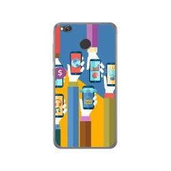 Funda Gel Tpu para Xiaomi Redmi 4X Diseño Apps Dibujos