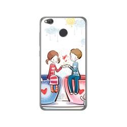 Funda Gel Tpu para Xiaomi Redmi 4X Diseño Cafe Dibujos
