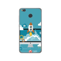 Funda Gel Tpu para Xiaomi Redmi 4X Diseño Cohete Dibujos