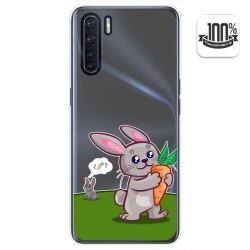 Funda Gel Transparente para Oppo A91 diseño Conejo Dibujos