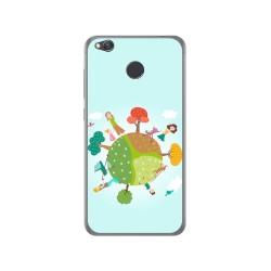 Funda Gel Tpu para Xiaomi Redmi 4X Diseño Familia Dibujos