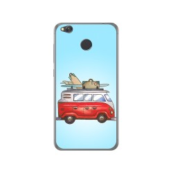 Funda Gel Tpu para Xiaomi Redmi 4X Diseño Furgoneta Dibujos