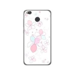 Funda Gel Tpu para Xiaomi Redmi 4X Diseño Flores Minimal Dibujos