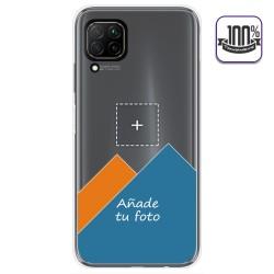Personaliza tu Funda Gel Silicona Transparente con tu Fotografia para Huawei P40 Lite dibujo personalizada
