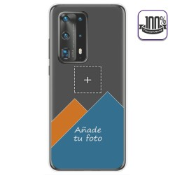 Personaliza tu Funda Gel Silicona Transparente con tu Fotografia para Huawei P40 Pro dibujo personalizada