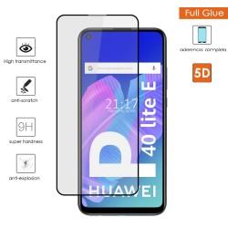 Protector Cristal Templado Completo 5D Full Glue Negro para Huawei P40 Lite E Vidrio