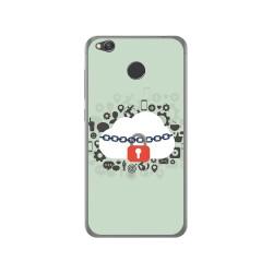 Funda Gel Tpu para Xiaomi Redmi 4X Diseño Nube Dibujos