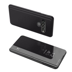 Funda Flip Cover Clear View para Lg K50S color Negra