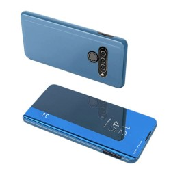 Funda Flip Cover Clear View para Lg K50S color Azul