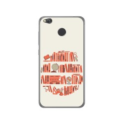 Funda Gel Tpu para Xiaomi Redmi 4X Diseño Mundo Libro Dibujos