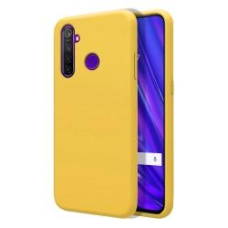 Funda Silicona Líquida Ultra Suave para Realme 5 Pro color Amarilla