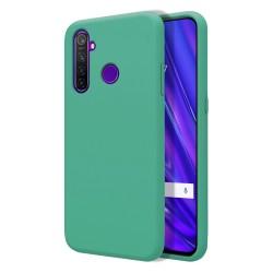 Funda Silicona Líquida Ultra Suave para Realme 5 Pro color Verde