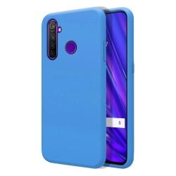 Funda Silicona Líquida Ultra Suave para Realme 5 Pro color Azul Celeste
