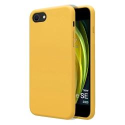 Funda Silicona Líquida Ultra Suave para Iphone SE 2020 color Amarilla