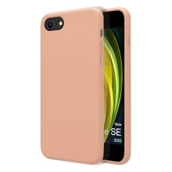 Funda Silicona Líquida Ultra Suave para Iphone SE 2020 color Rosa