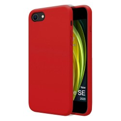 Funda Silicona Líquida Ultra Suave para Iphone SE 2020 color Roja