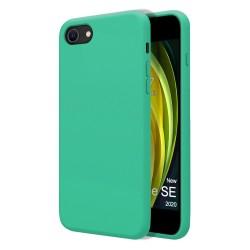 Funda Silicona Líquida Ultra Suave para Iphone SE 2020 color Verde
