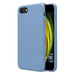 Funda Silicona Líquida Ultra Suave para Iphone SE 2020 color Azul Celeste