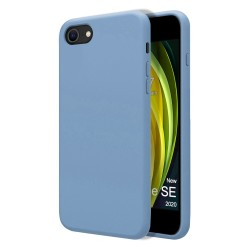 Funda Silicona Líquida Ultra Suave para Iphone SE 2020 color Azul Celeste