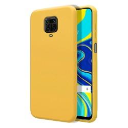 Funda Silicona Líquida Ultra Suave para Xiaomi Redmi Note 9S / Note 9 Pro color Amarilla