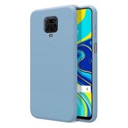 Funda Silicona Líquida Ultra Suave para Xiaomi Redmi Note 9S / Note 9 Pro color Azul Celeste