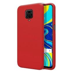 Funda Silicona Líquida Ultra Suave para Xiaomi Redmi Note 9S / Note 9 Pro color Roja