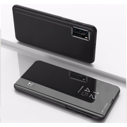 Funda Flip Cover Clear View para Huawei P40 Pro color Negro