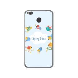 Funda Gel Tpu para Xiaomi Redmi 4X Diseño Spring Birds Dibujos