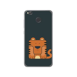 Funda Gel Tpu para Xiaomi Redmi 4X Diseño Tigre Dibujos