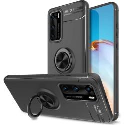Funda Magnetica Soporte con Anillo Giratorio 360 para Huawei P40 Negra