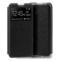 Funda Libro Soporte con Ventana para Huawei P40 Lite Negra