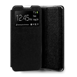 Funda Libro Soporte con Ventana para Xiaomi Mi 10 / Mi 10 Pro Negra